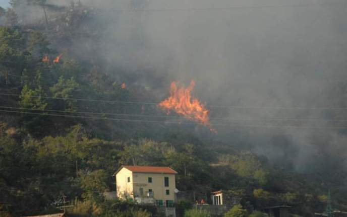 incendio monte Gazzo-SestriP