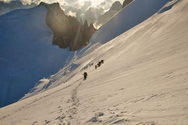 Salita al Monte Bianco. Foto Ferdinando Rollando.