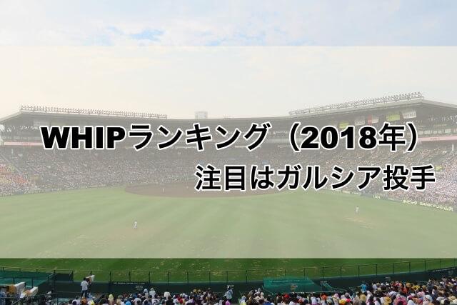 【野球】2018年WHIPランキング