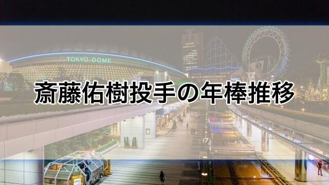【日ハム】斎藤佑樹投手の年俸推移と成績について