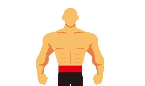 肩幅の広い男性