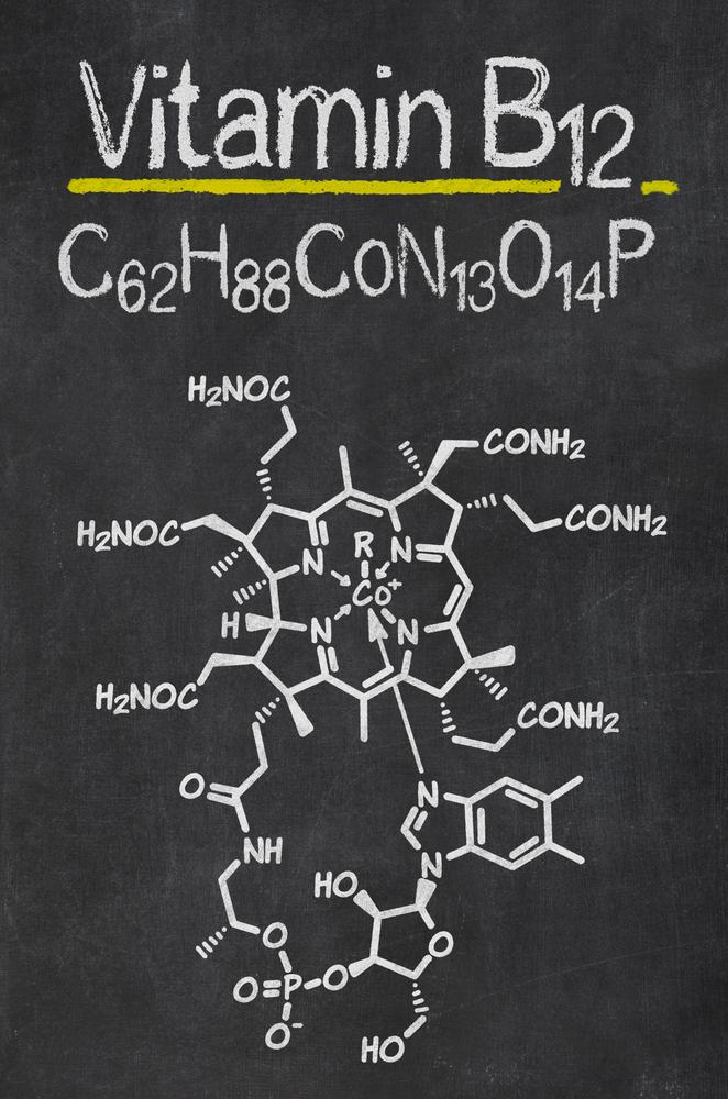 Vitamin B12 chemical formula (complicated, isn't it?)