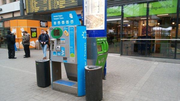 ヘルシンキ近郊列車の券売機