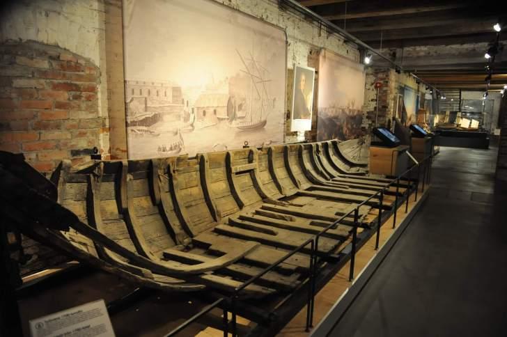 スオメンリンナ博物館の内部。造船の模型と思われる