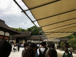 Goshuin line at Shimogamo Shrine
