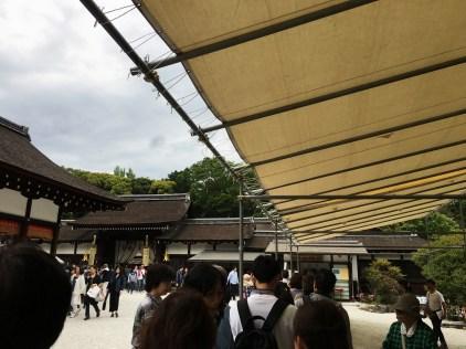 Goshuin line at Shimogamo Shrine
