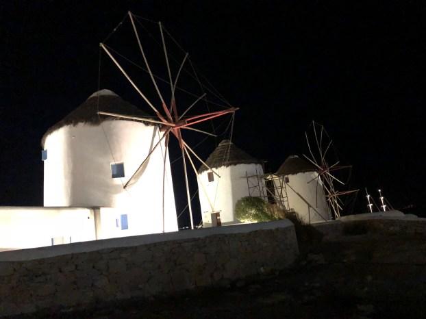 Famosi mulini a vento di Mykonos