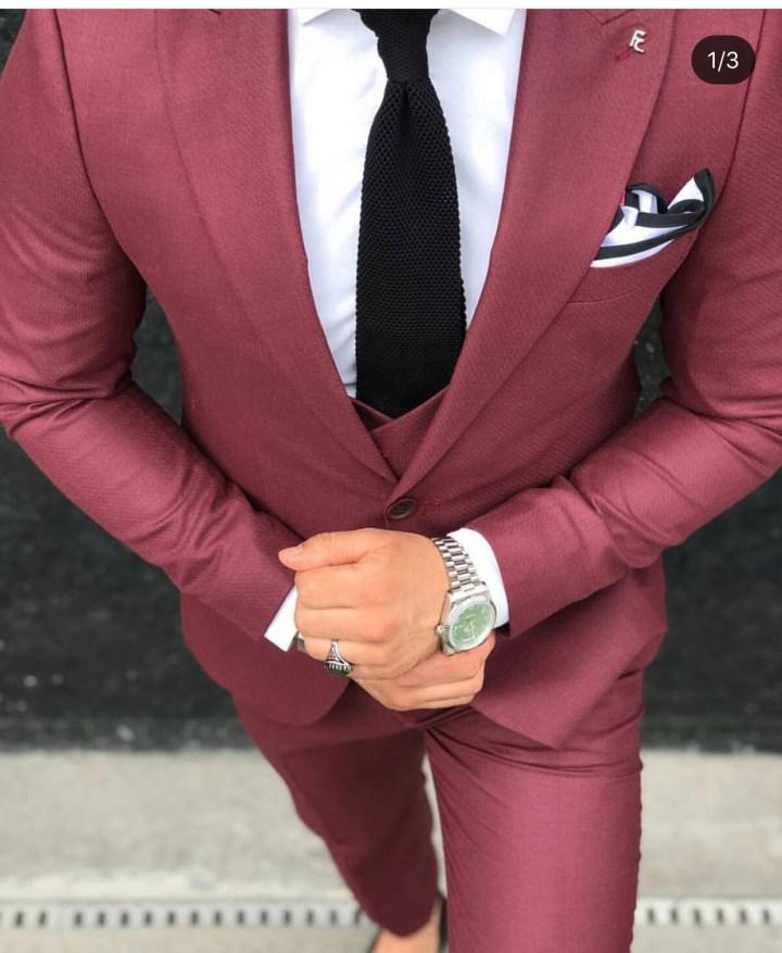 Abiti uomo - Elegante abito rosso