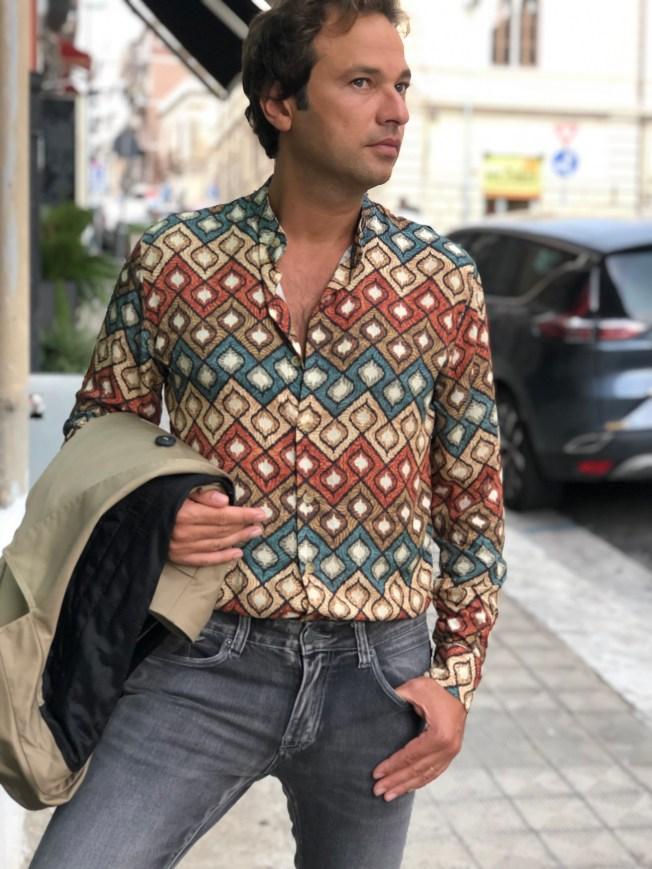 camicie uomo a fantasia  - gogolfun.it