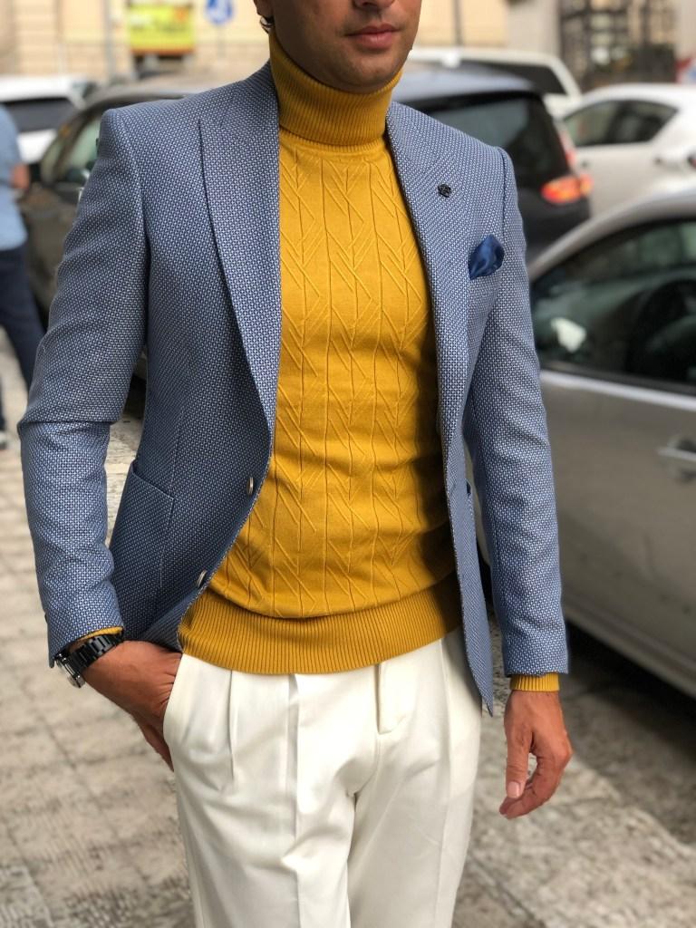 Abbinamento collo alto e pantaloni a vita alta Paul Miranda -  Negozio gogolfun.it