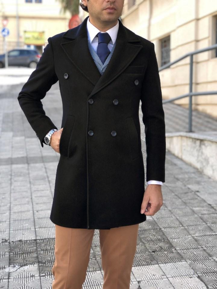 cappotto uomo blu - gogolfun.it