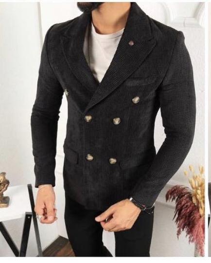 Outfit uomo - Giacca doppiopetto in velluto - Gogolfun.it