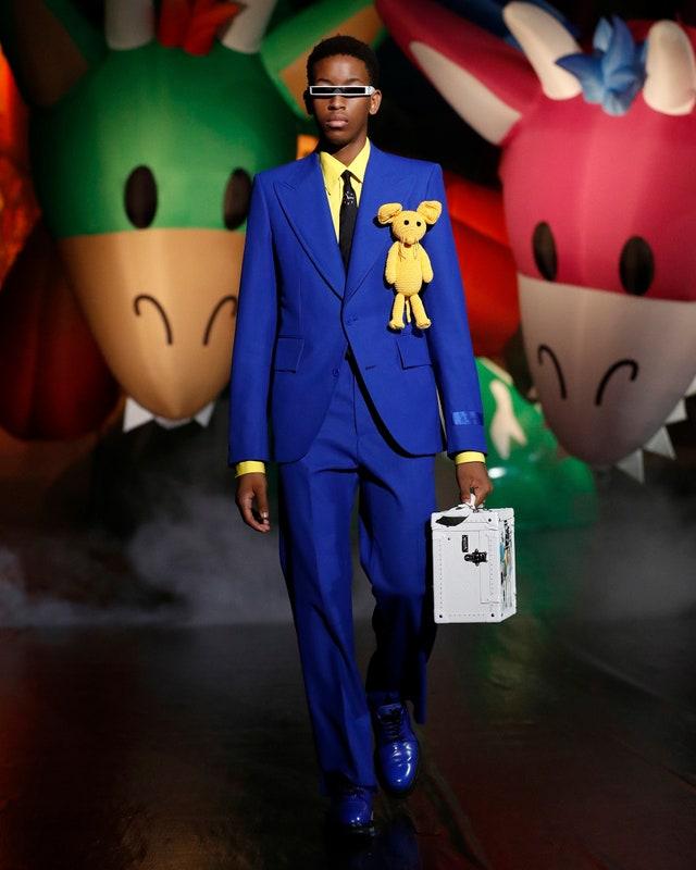 Abito intero in blu cobalto -  Louis Vuitton