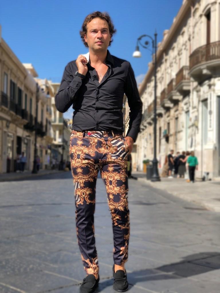 Pantaloni uomo stampa Versace - Gogolfun.it