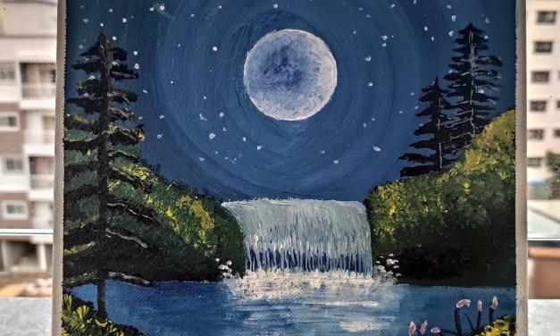 Moonlight Waterfall – @manishika_dhar