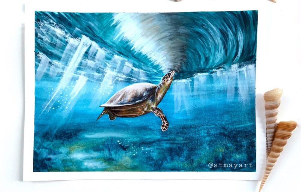 Underwater Turtle – @stmayart