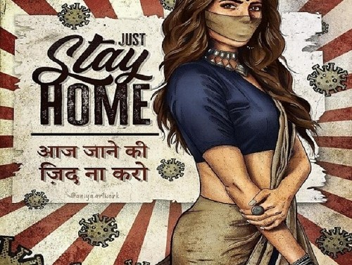 Just Stay Home – @aniya.artwork