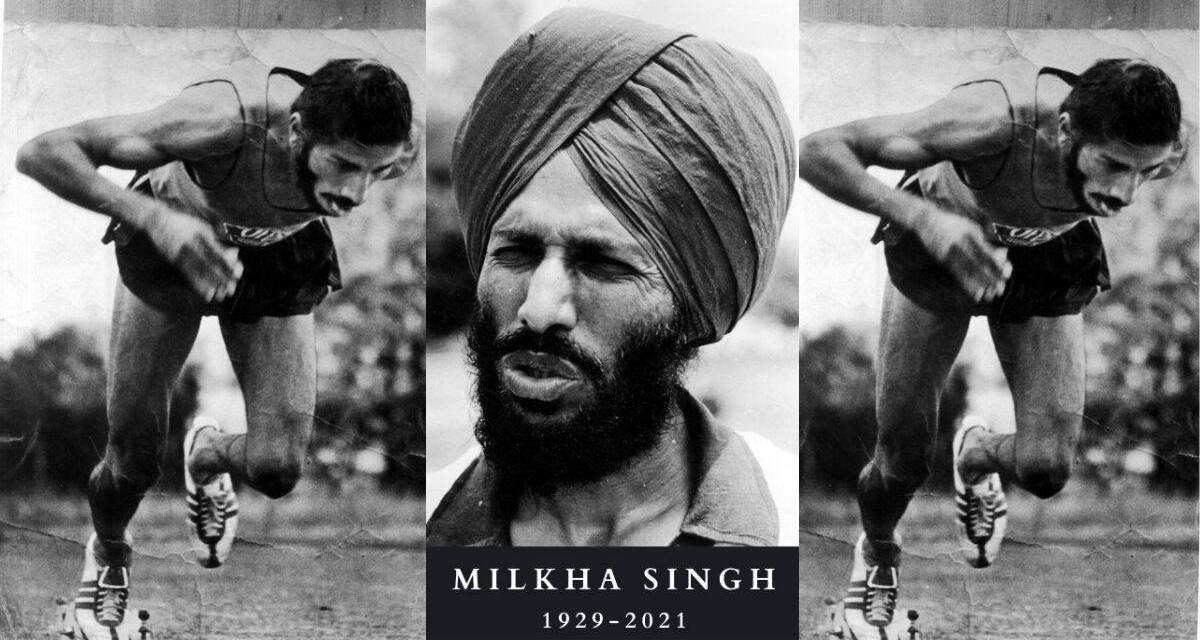 """""""FLYING SIKH"""" Milkha Singh, a three-time Olympian has died at the age of 91 from complications caused by COVID-19"""
