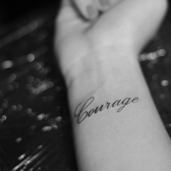 It takes a lot of courage to INK