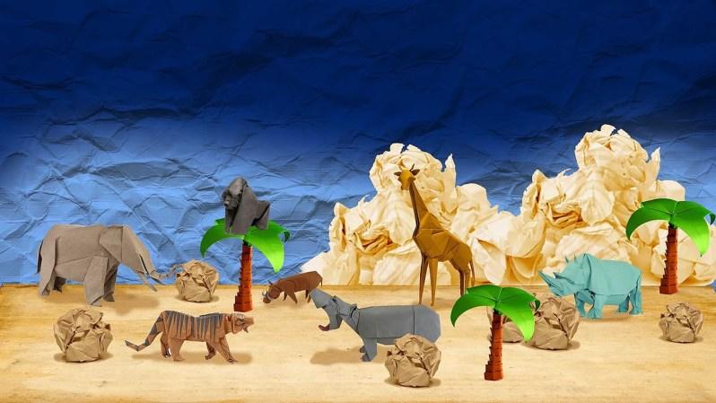 Animali di carta origami