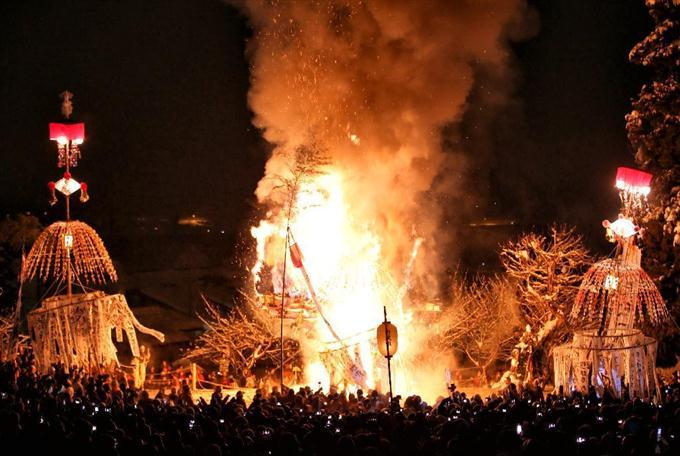 Dosojin festival i nozawa onsen
