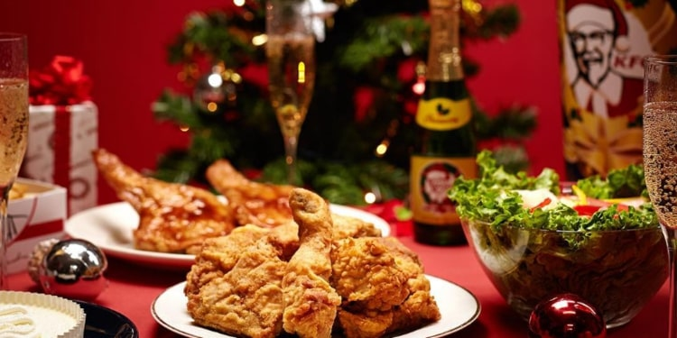 KFC Christmas fried chicken
