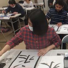 Student in class at UNITAS