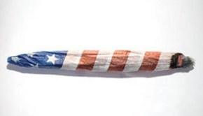 American Flag Marijuana Joint