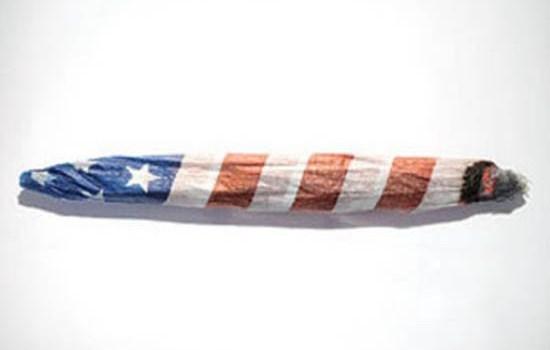 American Flag Marijuana Joint