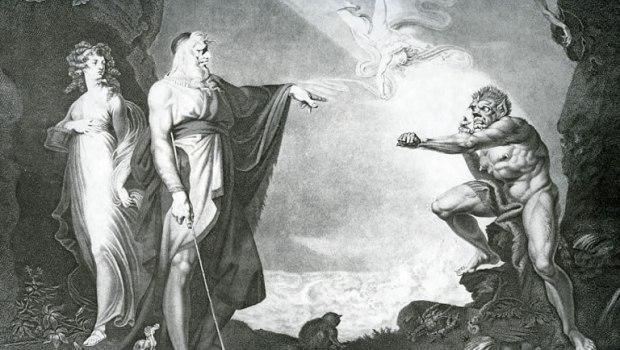 Prospero, Miranda and Caliban