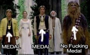 Chewbacca No Medal