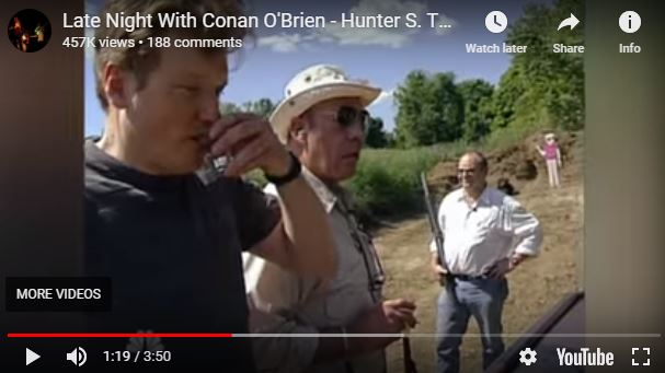 Conan O'Brien and Hunter S. Thompson Drink and Shoot Guns