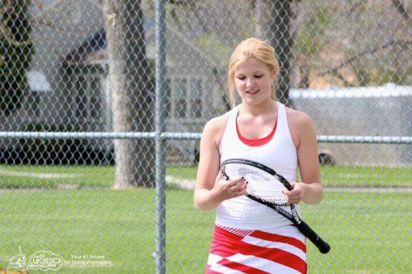 Dawson County High School Girls Tennis Marenah Crockett Smiles, May 15, 2014