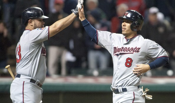 Minnesota Twins Kurt Suzuki and Josmil Pinto