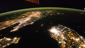 Pyongyang North Korea Photo from Space at Night