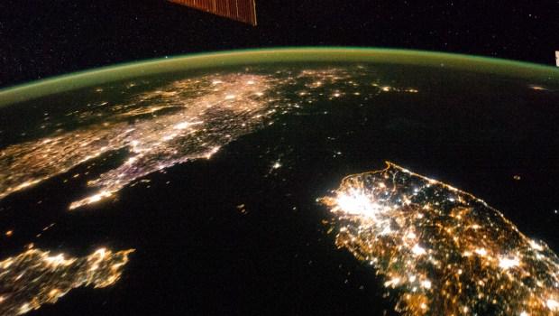 Pyongyang North Korea Photo from Space at Night