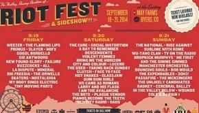 Riot Fest Denver Lineup