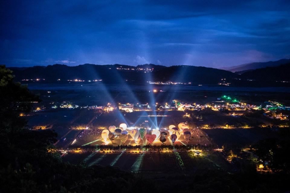 台東熱氣球,台東熱氣球時間,光雕音樂會