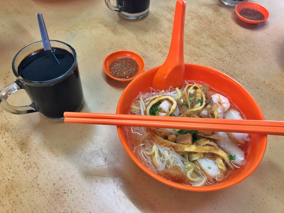 福建蝦麵,馬來西亞,檳城,自助,旅遊,馬來西亞美食