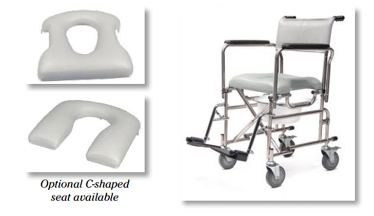The E&J™ Folding Rehab Shower Commode
