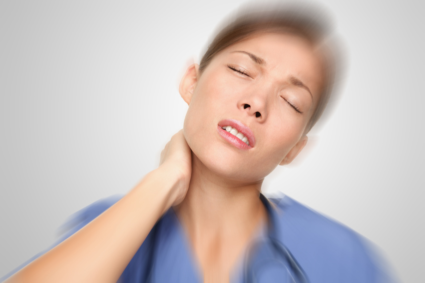 Nurse having neck and back pain
