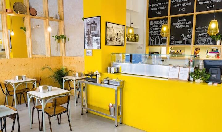 La Falaferia, vegan option on a budget in Madrid, specialized in falafel