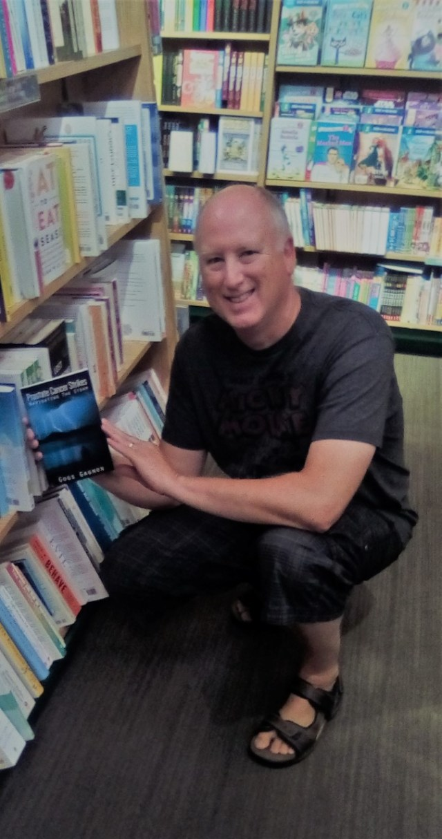 gogs gagnon with a copy of prostate cancer strikes now available in bookstores