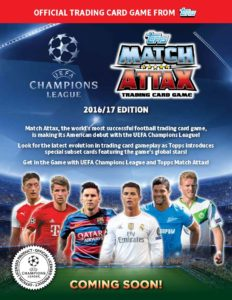2016-17 Topps UEFA Champions League Soccer Match Attack ...