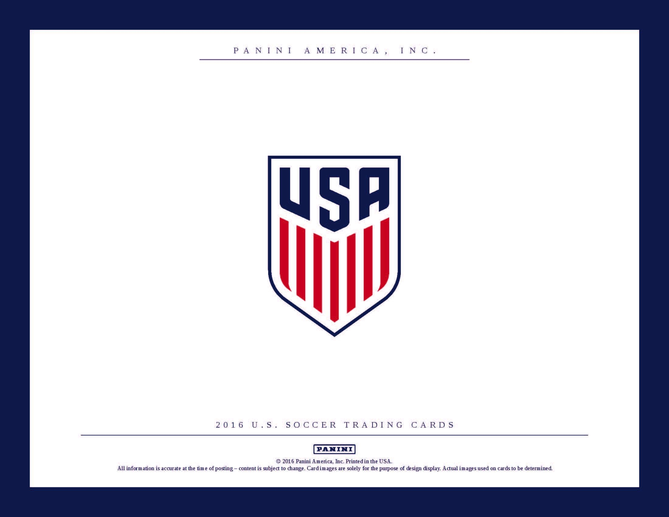17 Panini Usa Soccer Cards Box Set