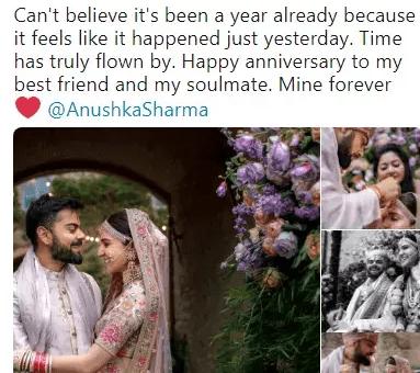 Virat Kohli and Anushka Sharma wedding anniversary
