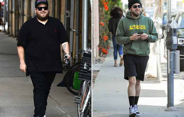 before and after weight loss men