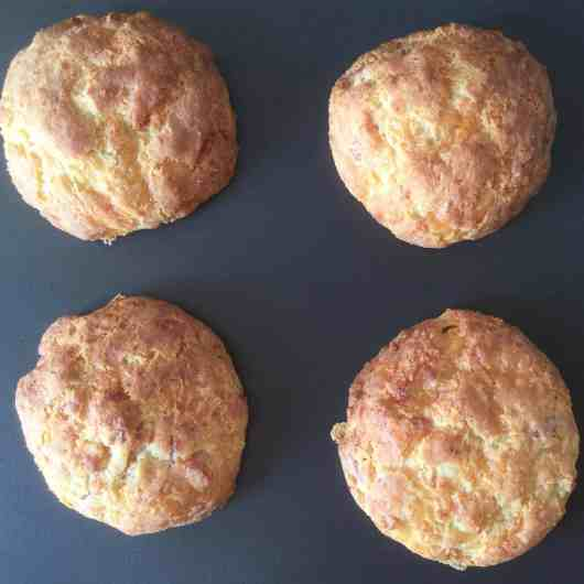 Bacon and cheese biscuits (gluten free, egg free)