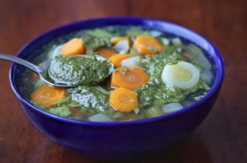 Pistou soup (AIP, paleo, vegan)