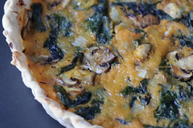 Pumpkin and spinach quiche (AIP, paleo, vegan)